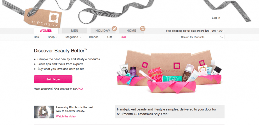Birchbox Subscription Based ECommerce