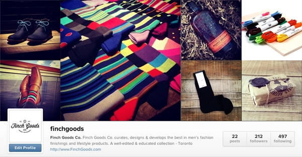 Finch Goods Co. Instagram Setup - How to launch a business