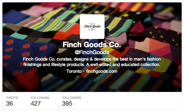 Finch Goods Co. Twitter Account - How to launch a business