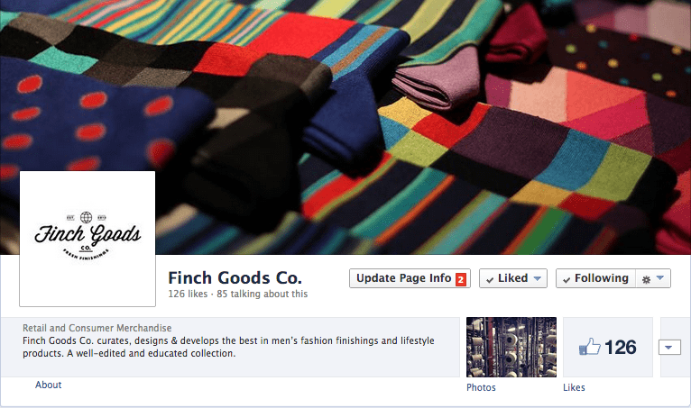 Finch Goods Co. Facebook Page Set Up - How to launch a business