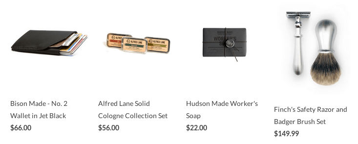 Curated Products