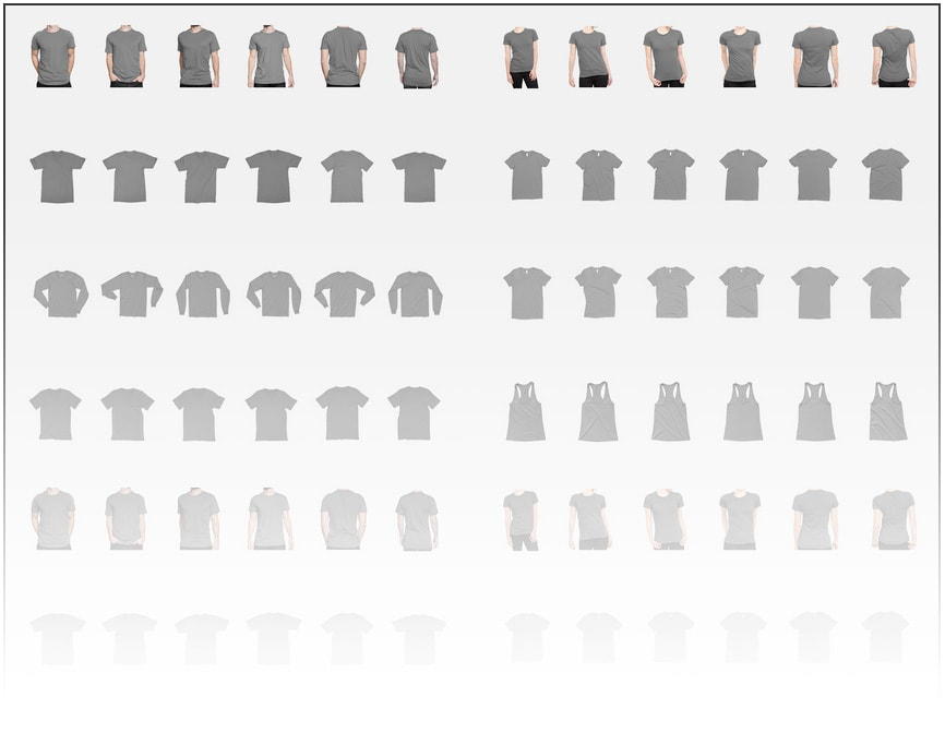 The best t shirt templates clothing mockup generators for Optima cotton wear t shirts