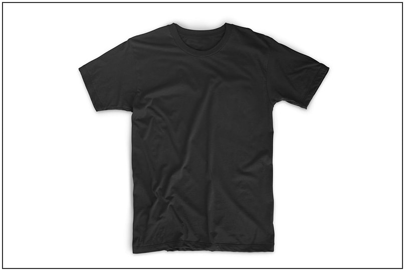 black t shirts template - photo #23