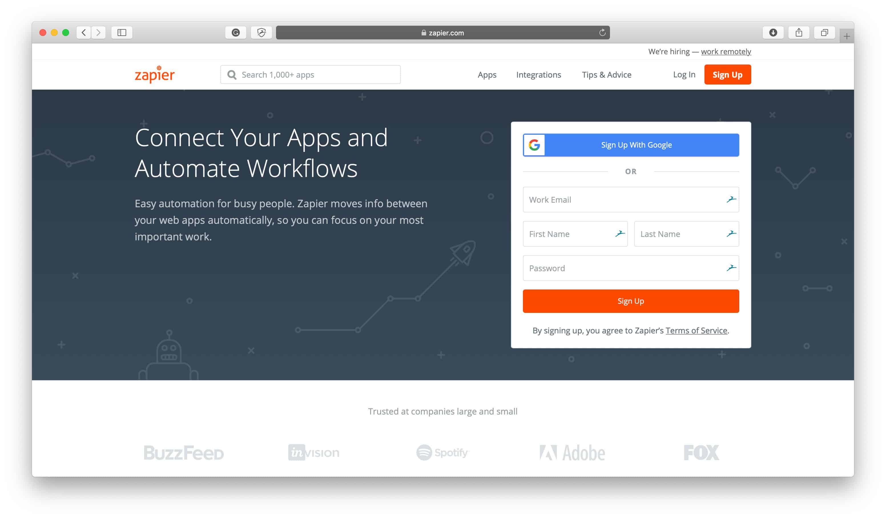 Zapier Slack Integration
