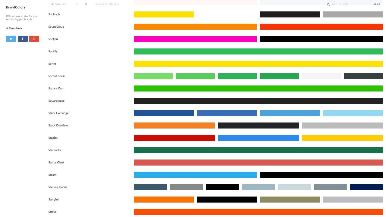 BrandColors Homepage