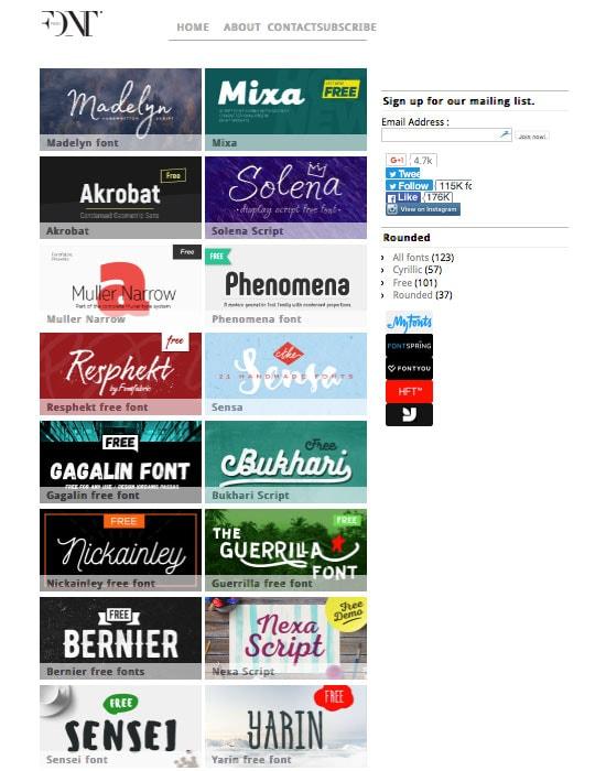 FontFabirc Homepage