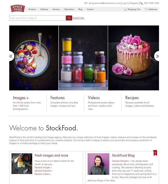 StockFood Homepage