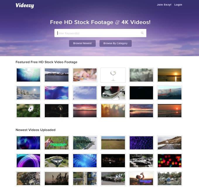 Videezy Homepage
