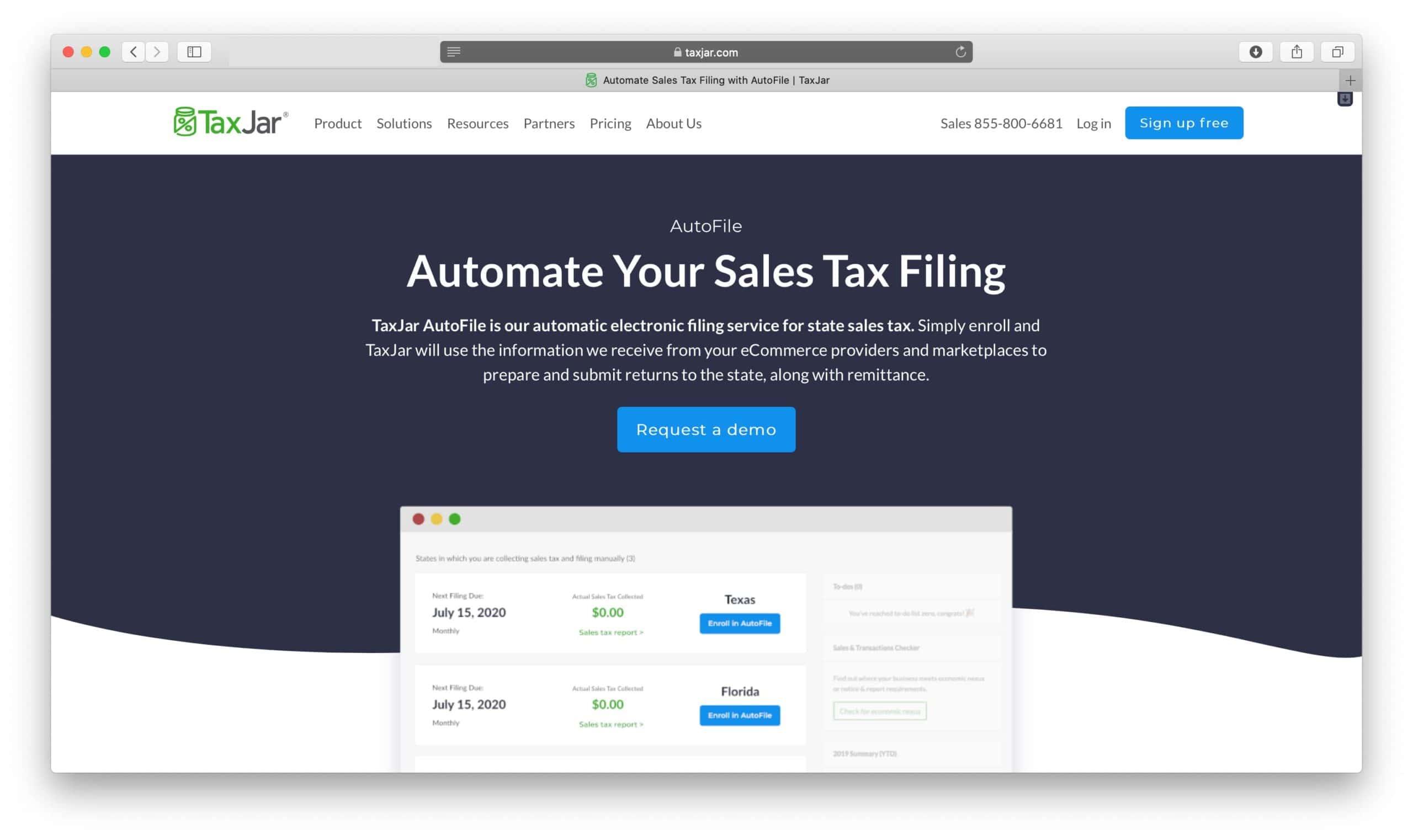 TaxJar Review AutoFile