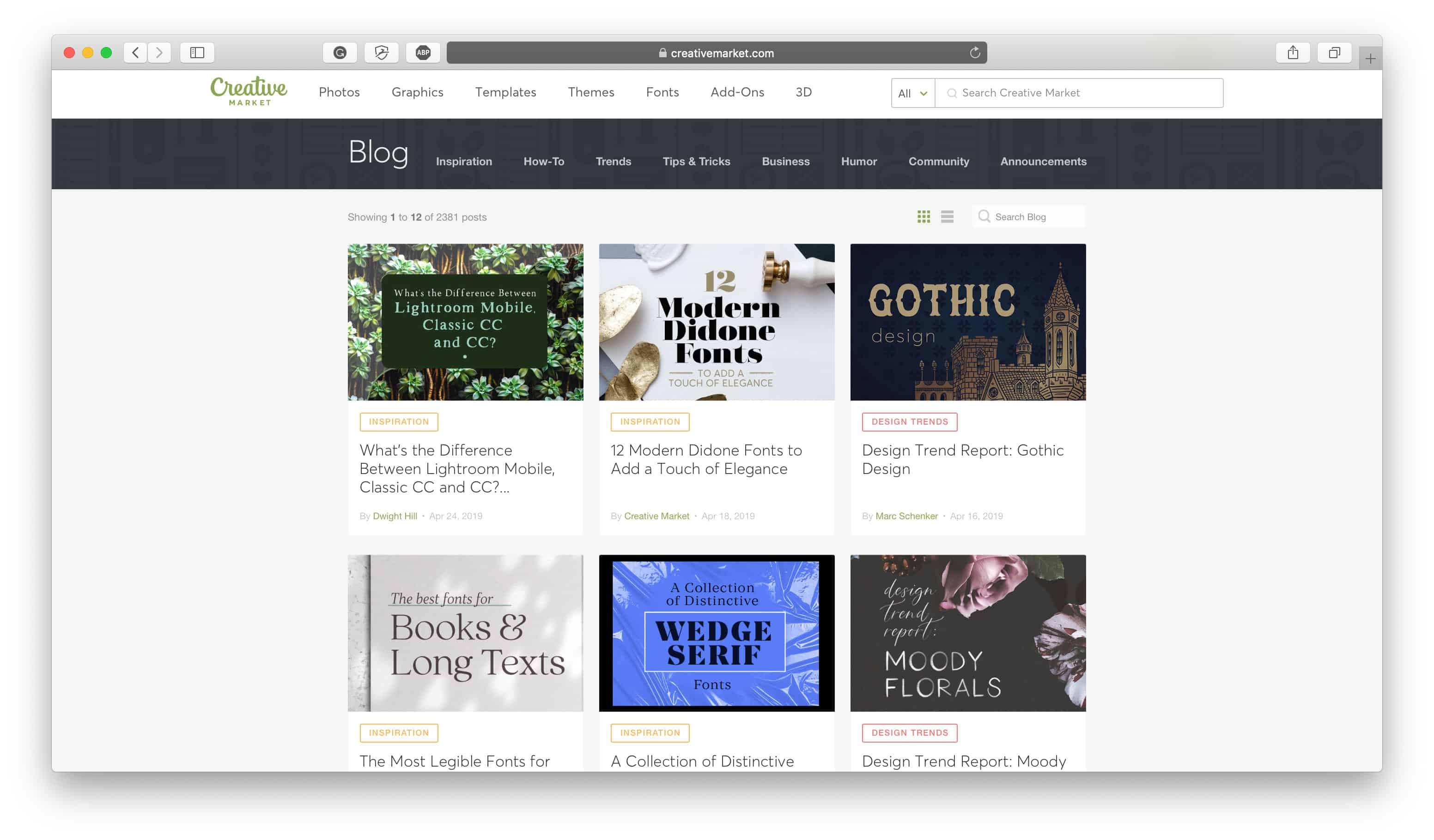 Creative Market Blog