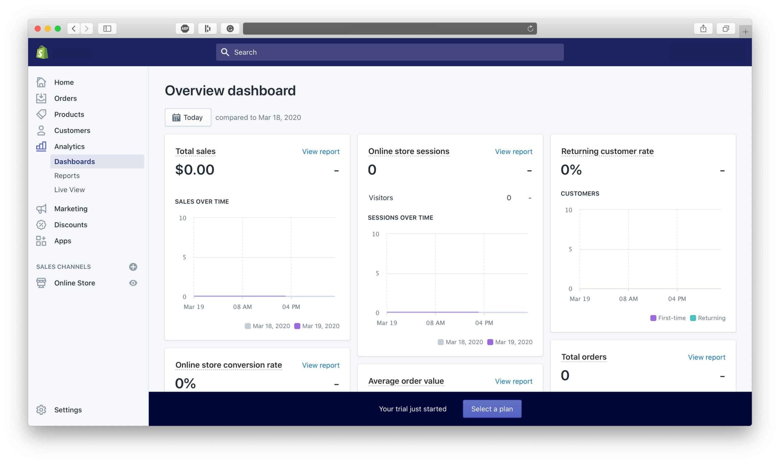 Shopify Analytics Dashboard