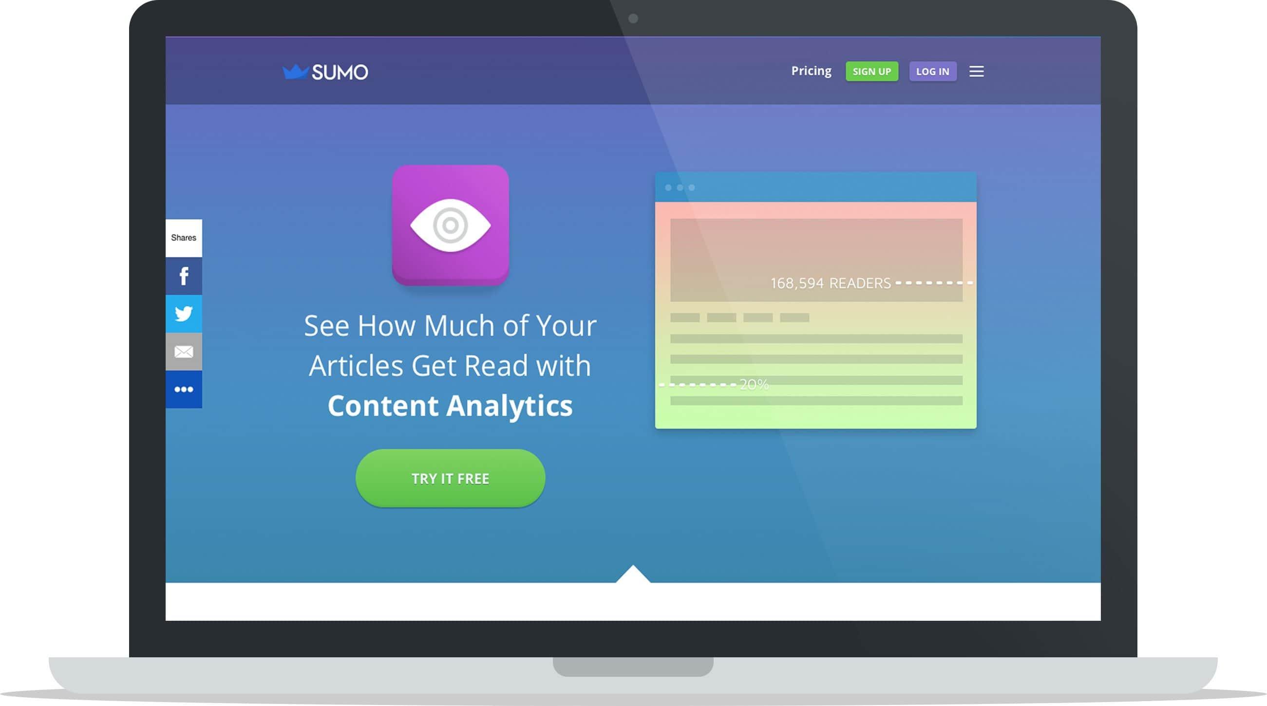 Sumo's Content Analytics Tool