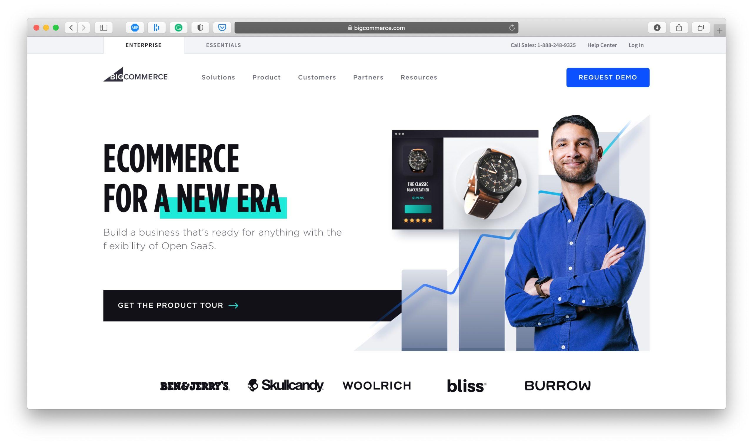 BigCommerce Ecommerce Platform Homepage