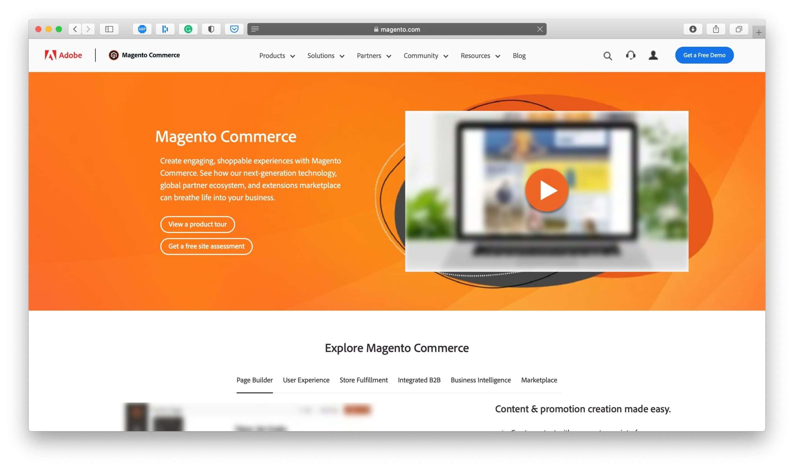 Magento Ecommerce Platform Homepage