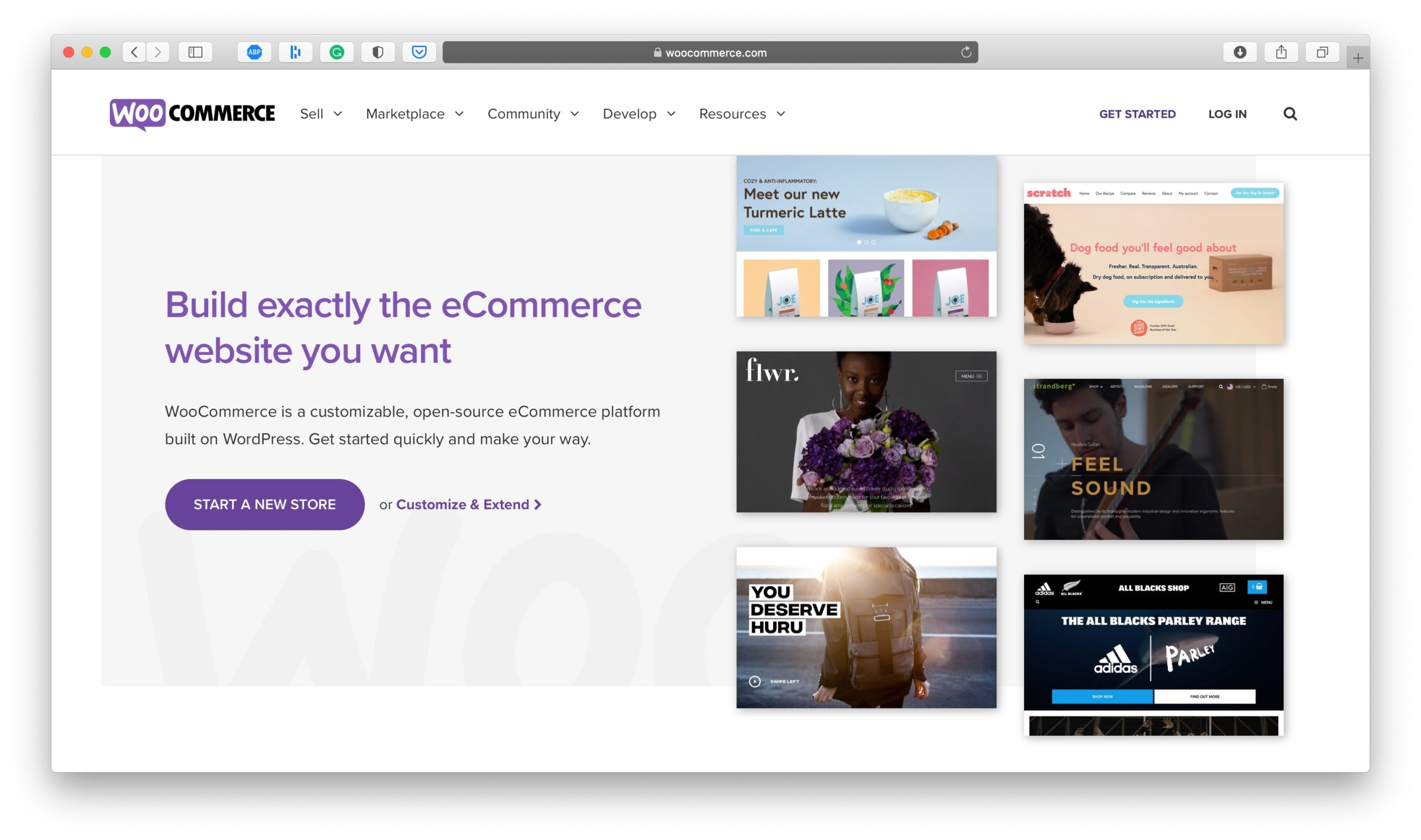 WooCommerce Ecommerce Platform Homepage