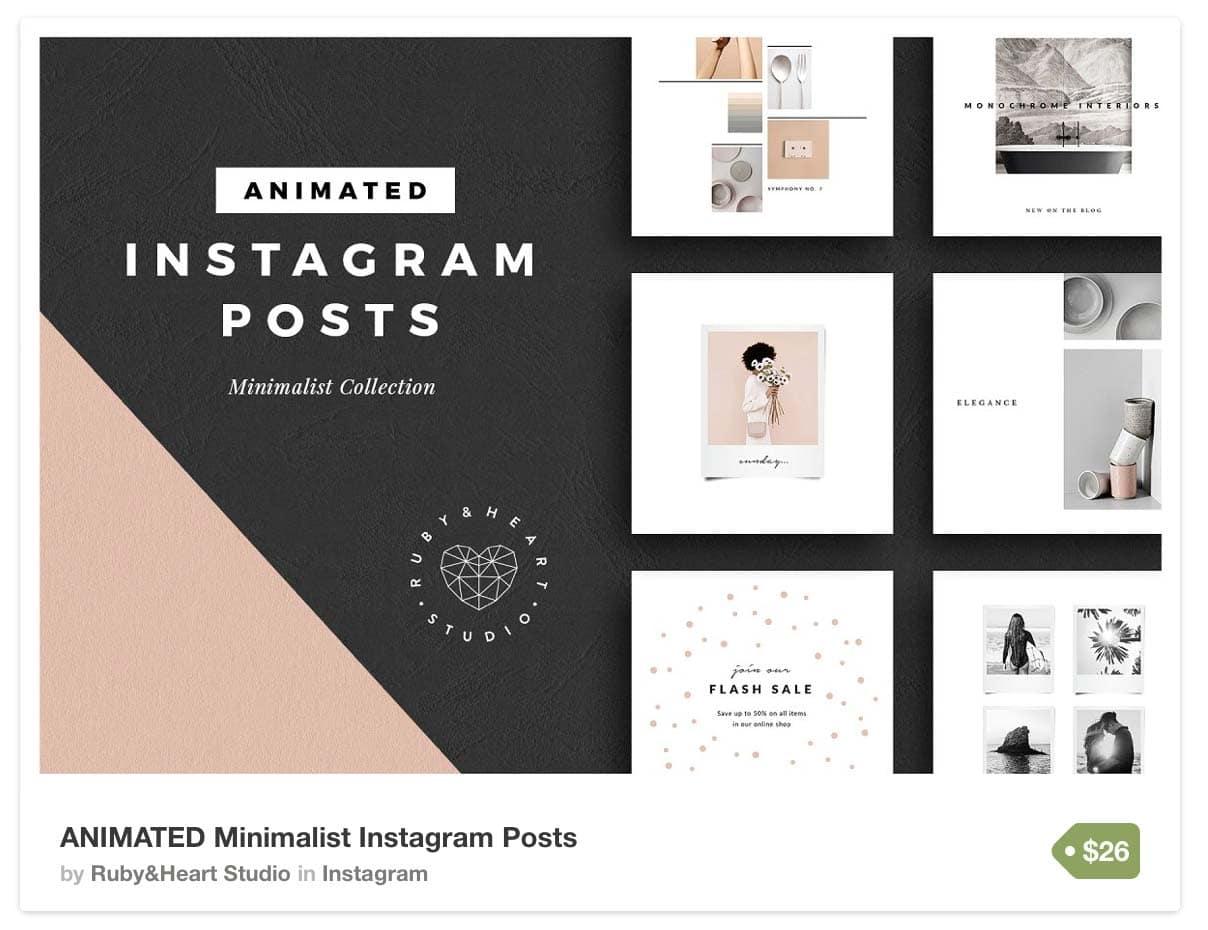instagram templates for ecommerce businesses brands bloggers. Black Bedroom Furniture Sets. Home Design Ideas