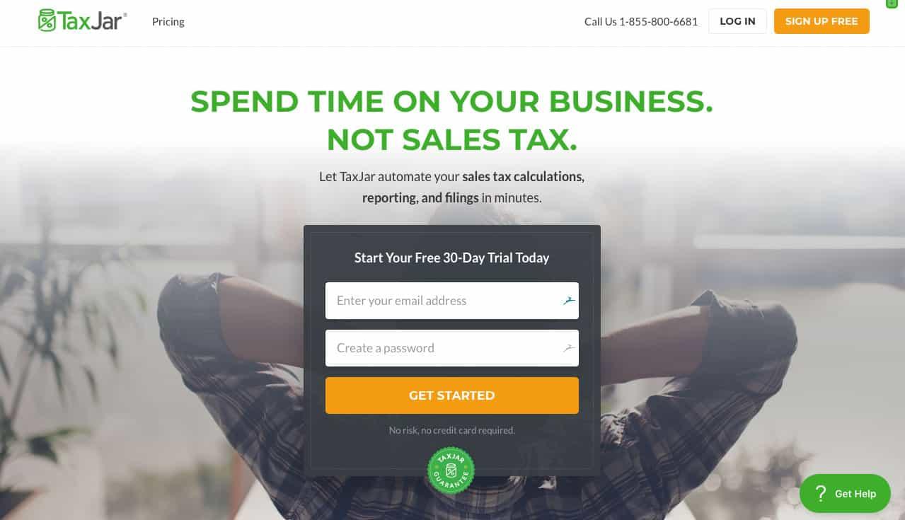 TaxJar Homepage