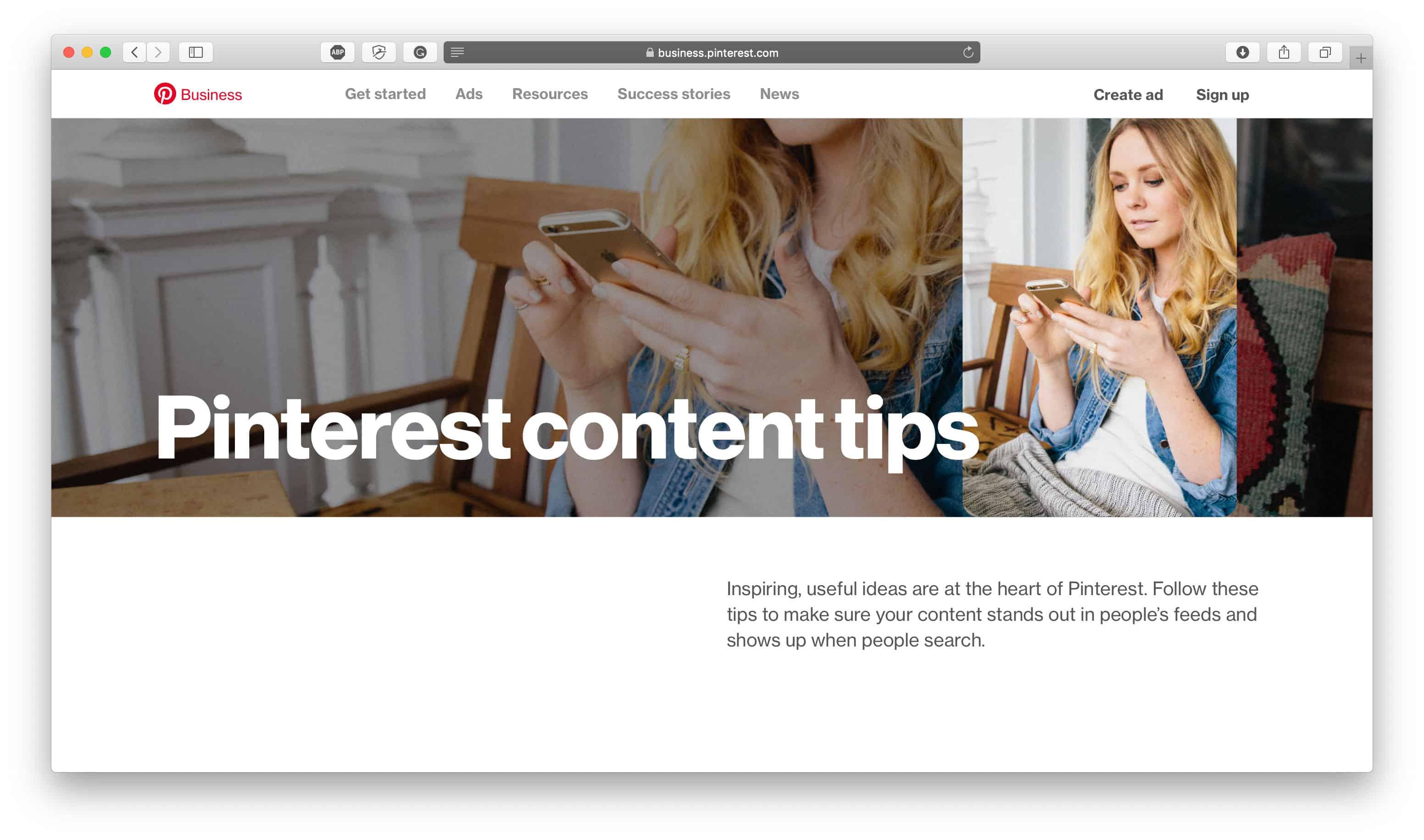 Pinterest Content Tips