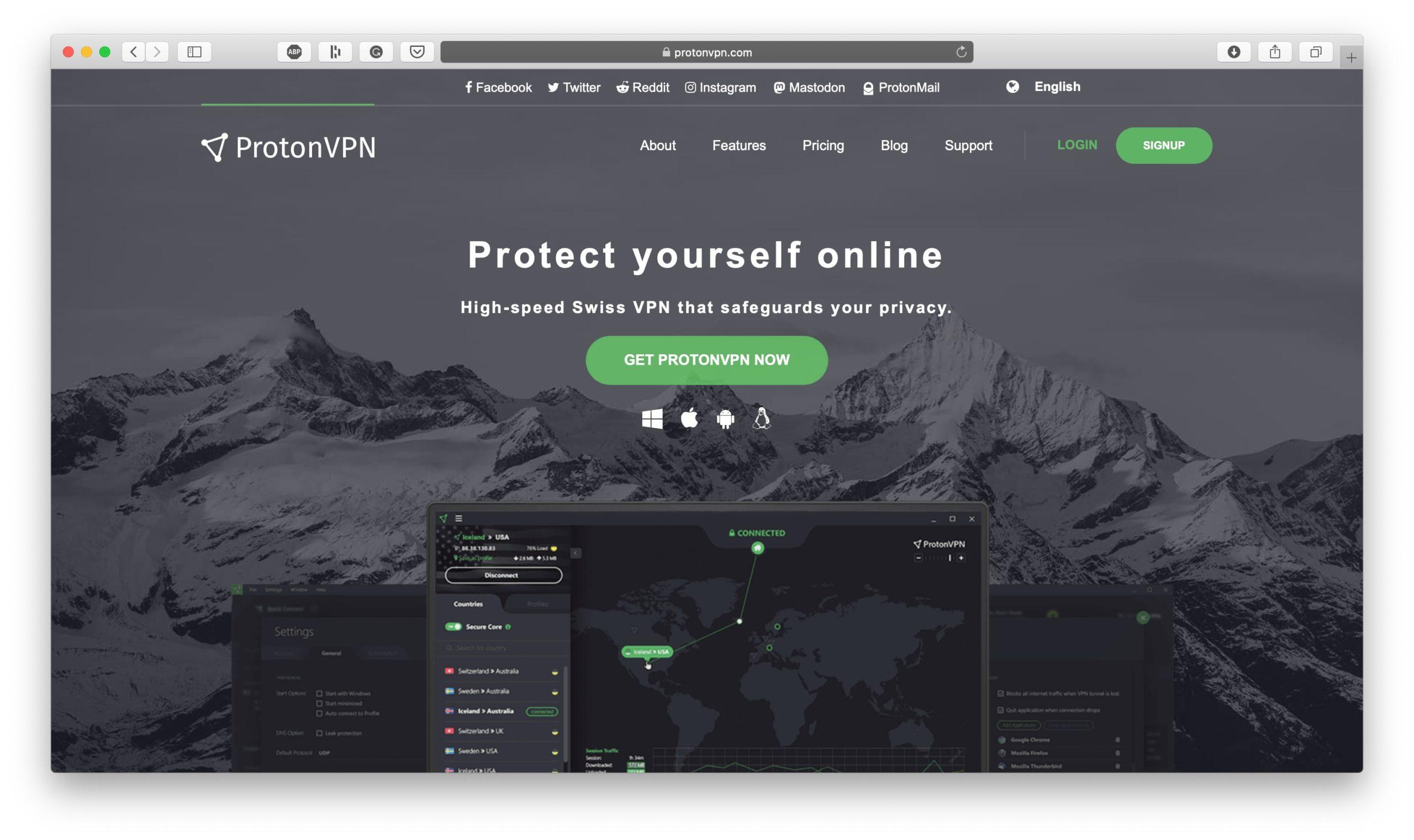 Application de productivité ProtonVPN