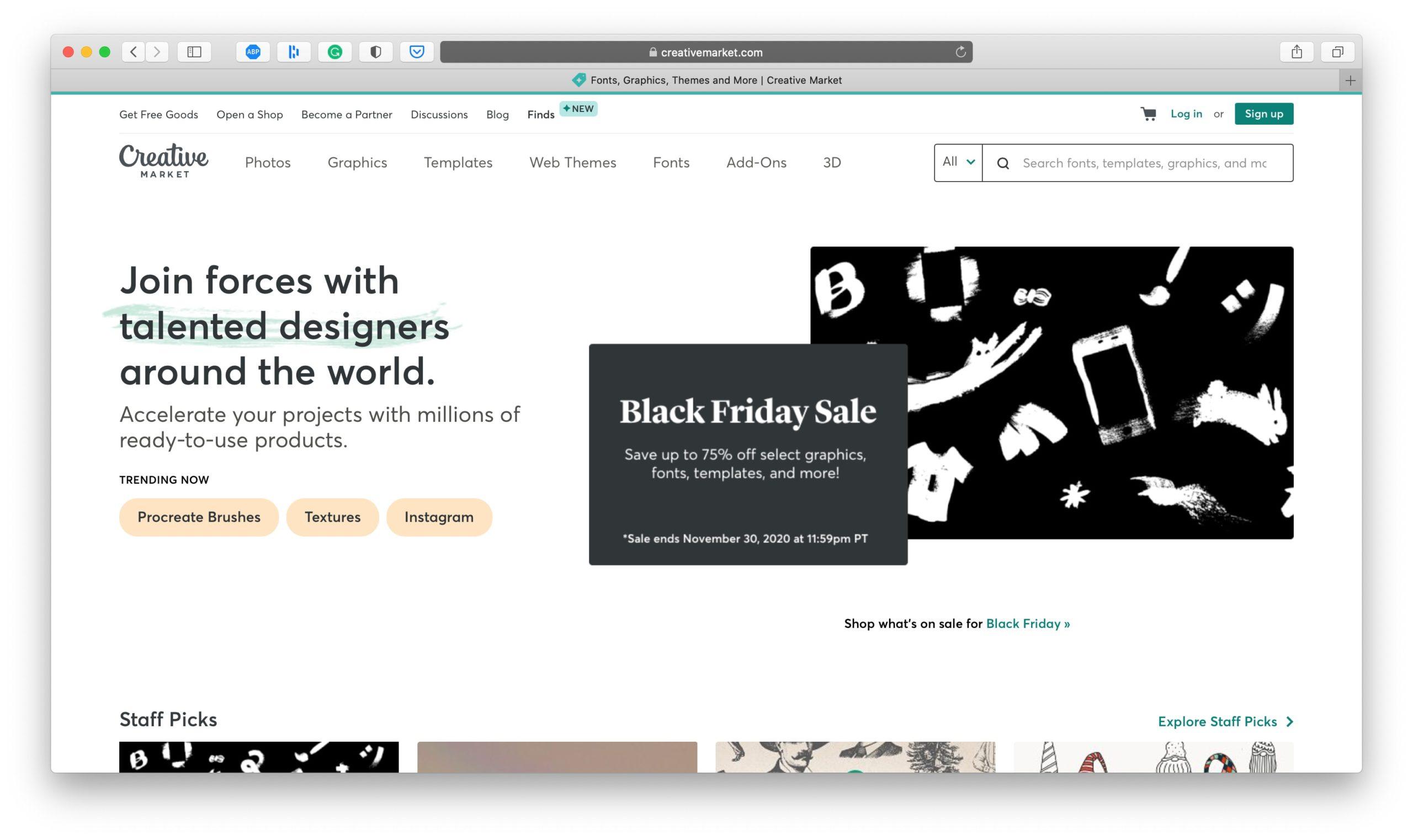 Creative Market Black Friday Deal
