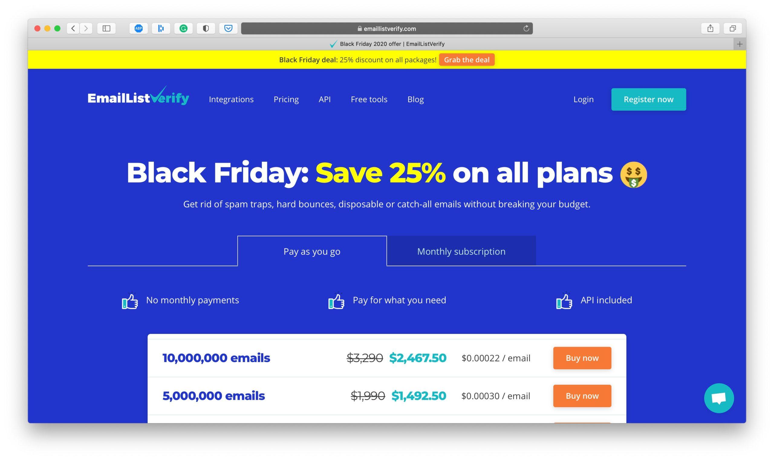 EmailListVerify Black Friday Deal