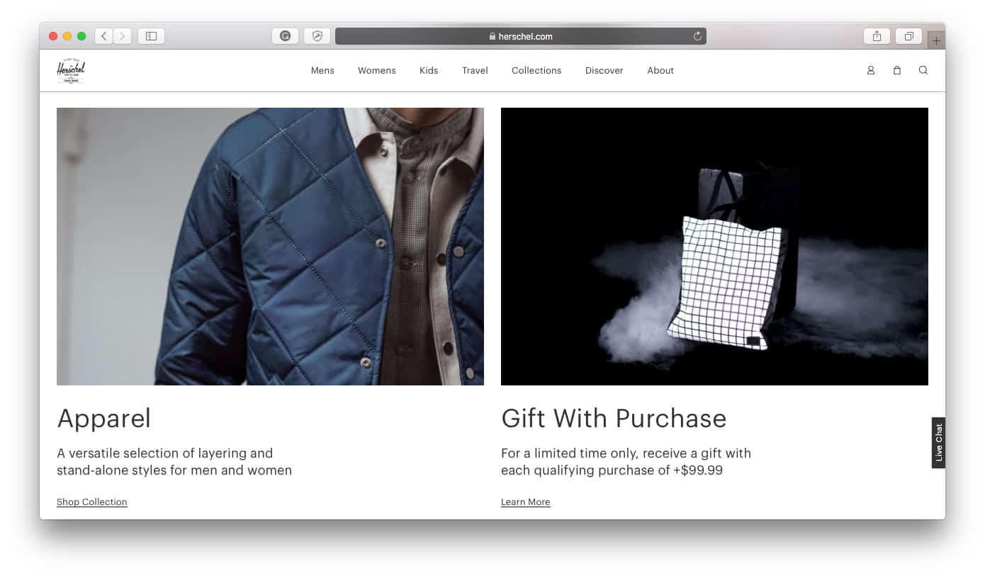 Herschel Best Shopify Stores