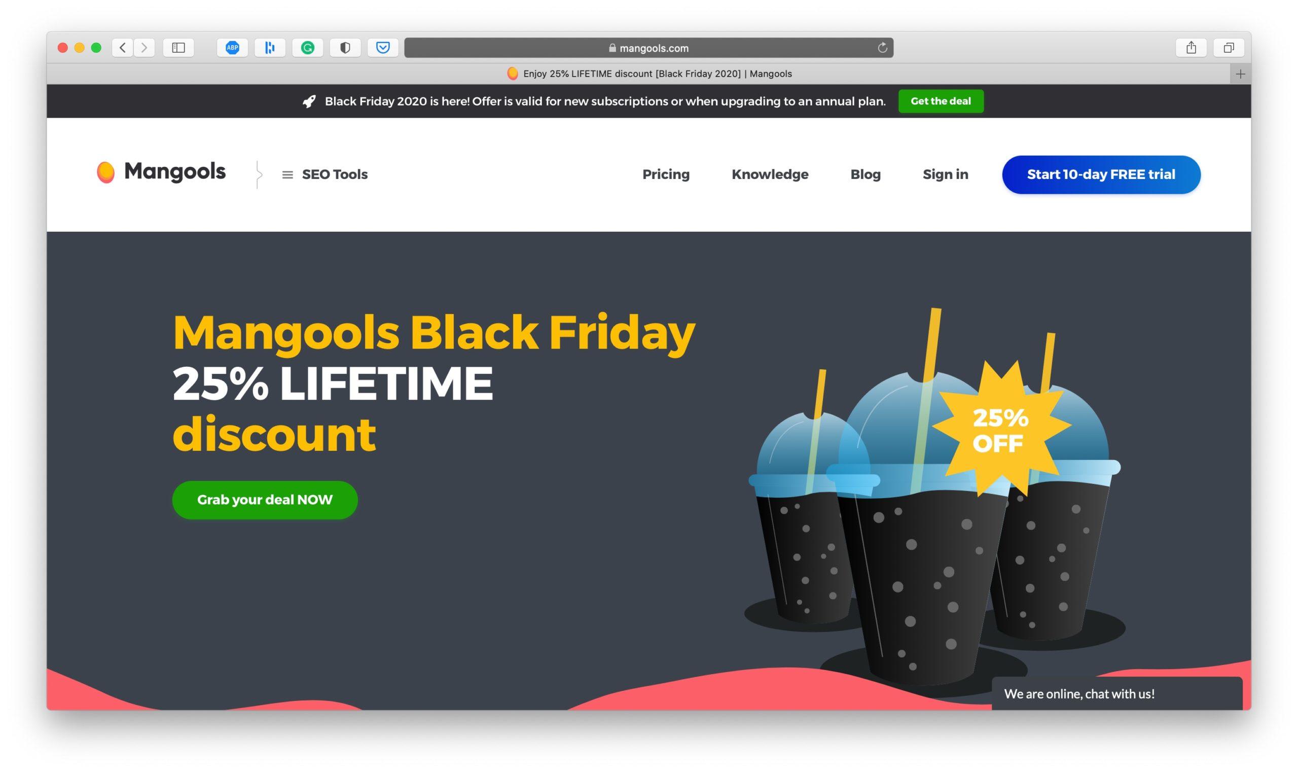Mangools Black Friday Deal