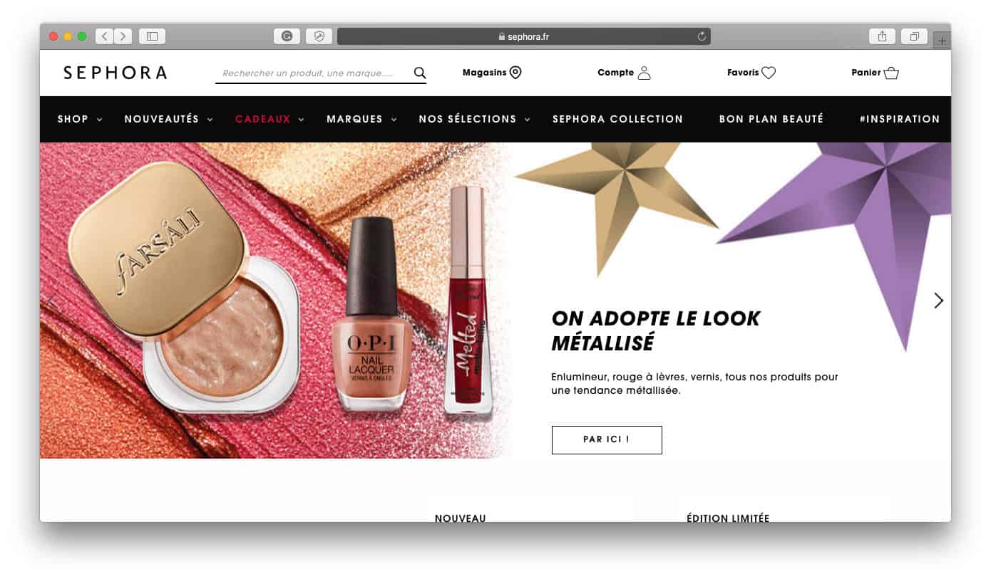 Sephora Best Shopify Stores