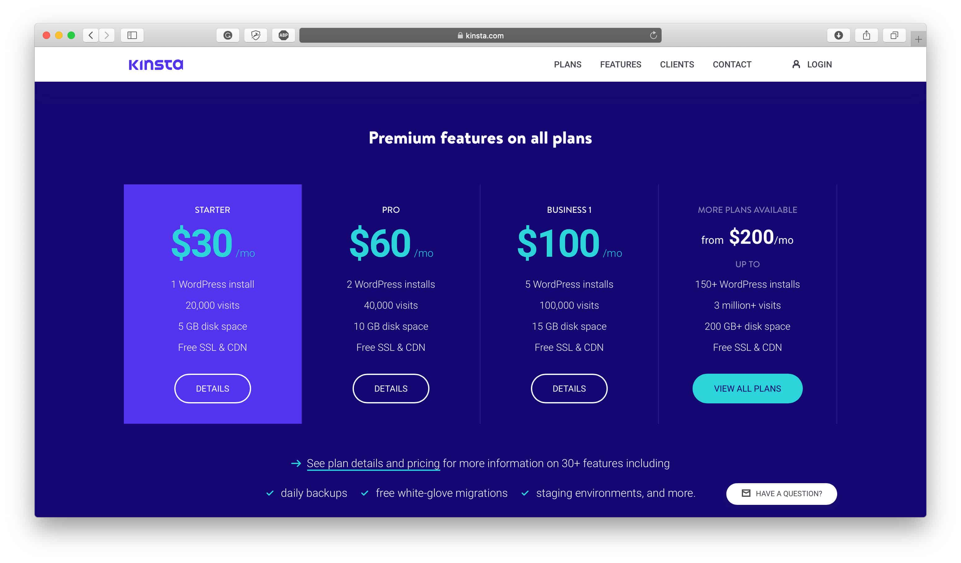 Kinsta Review Pricing