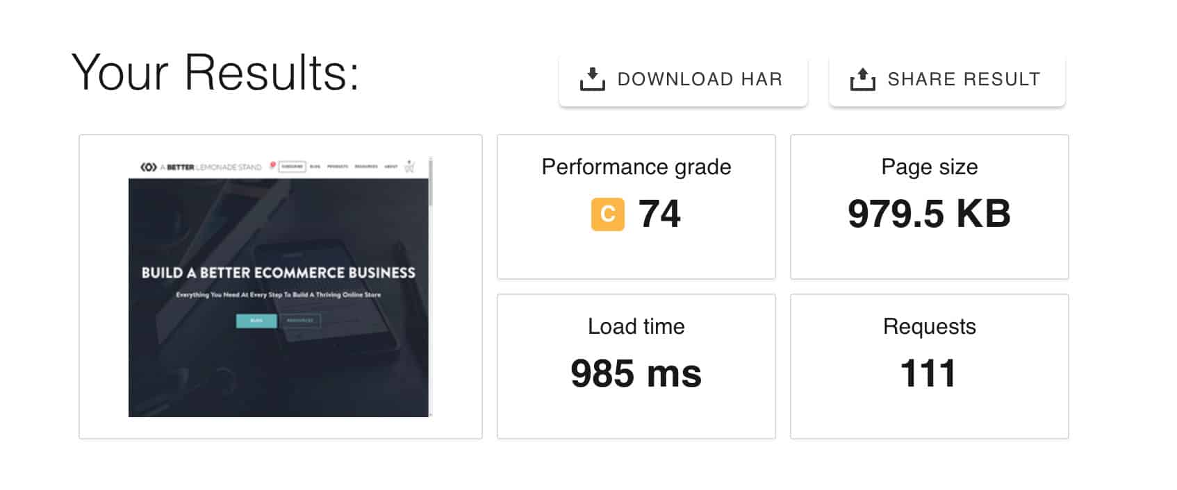 Pingdom Load Speed Test for Kinsta Website