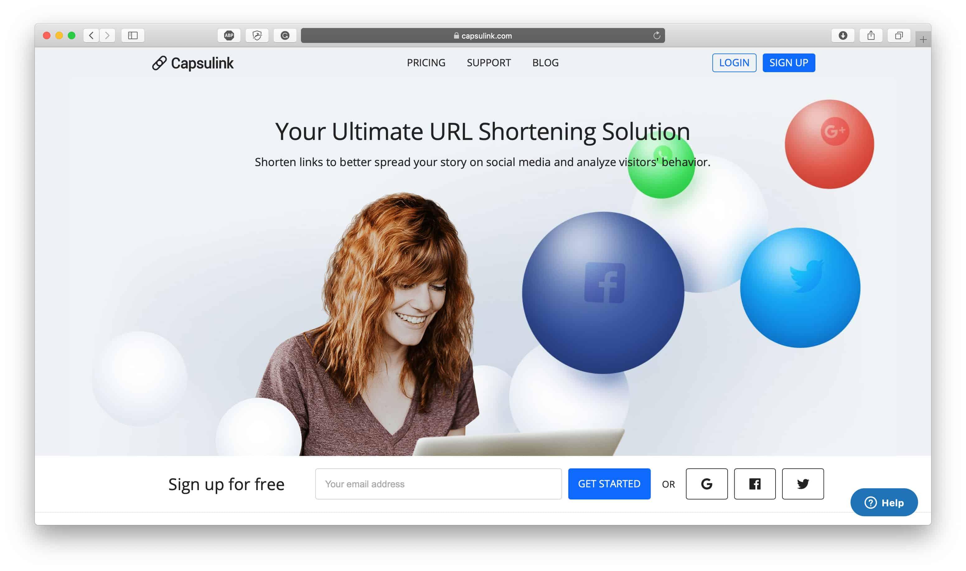 Capsulink URL Shortener