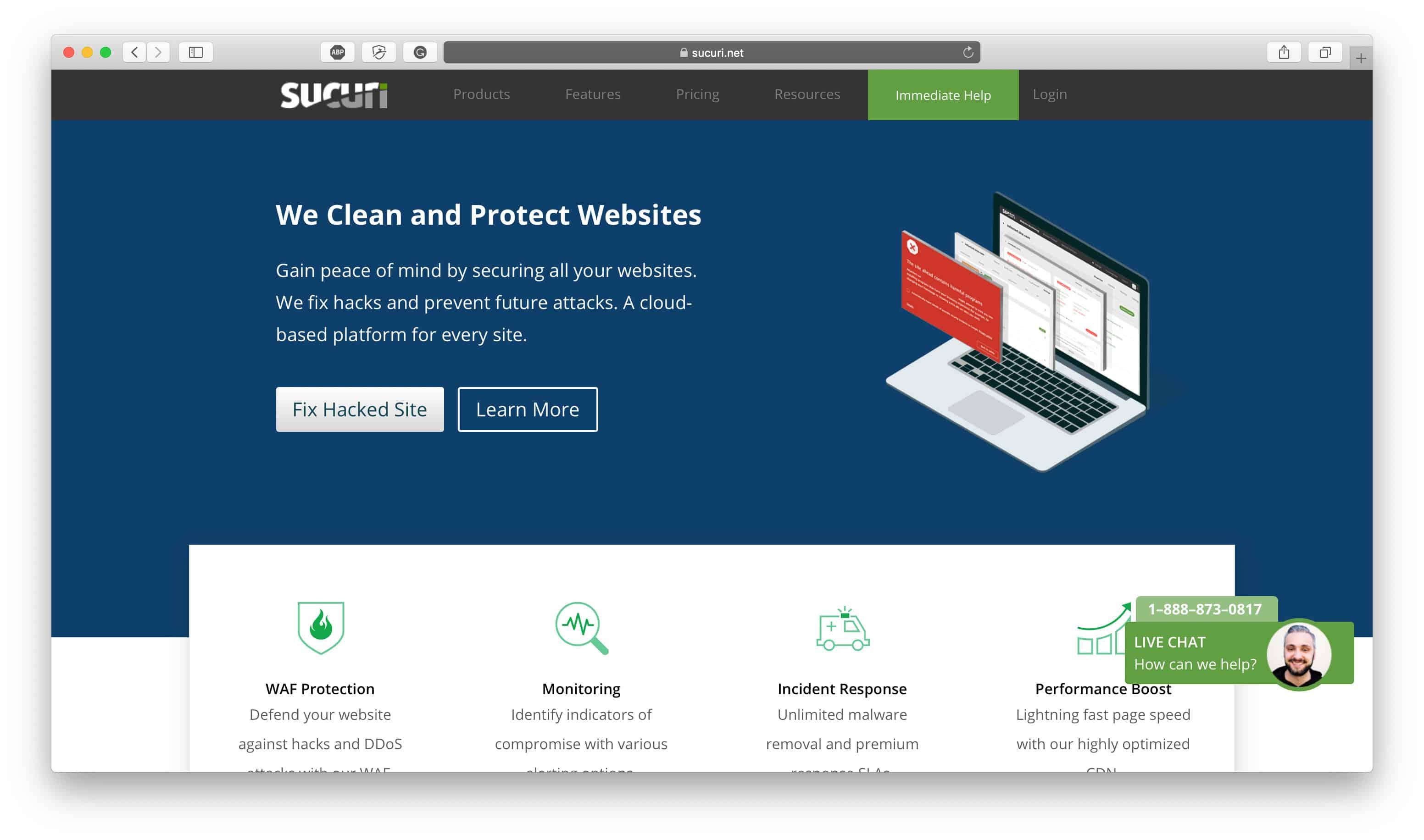 Sucuri Homepage