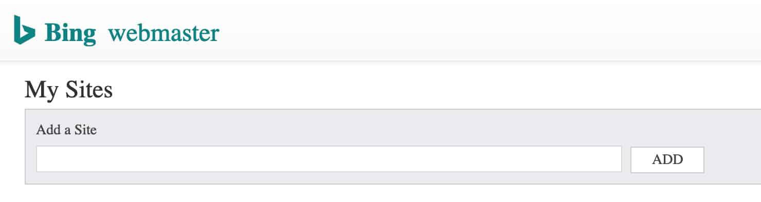Procedura di configurazione del webmaster Bing