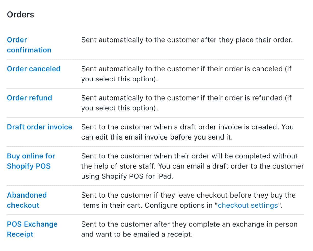 Impostazione dell'ordine del negozio online