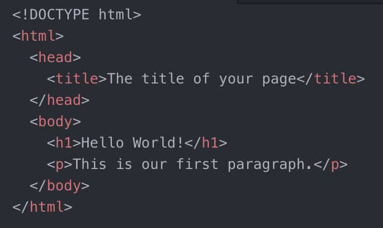 HTML Markup Example