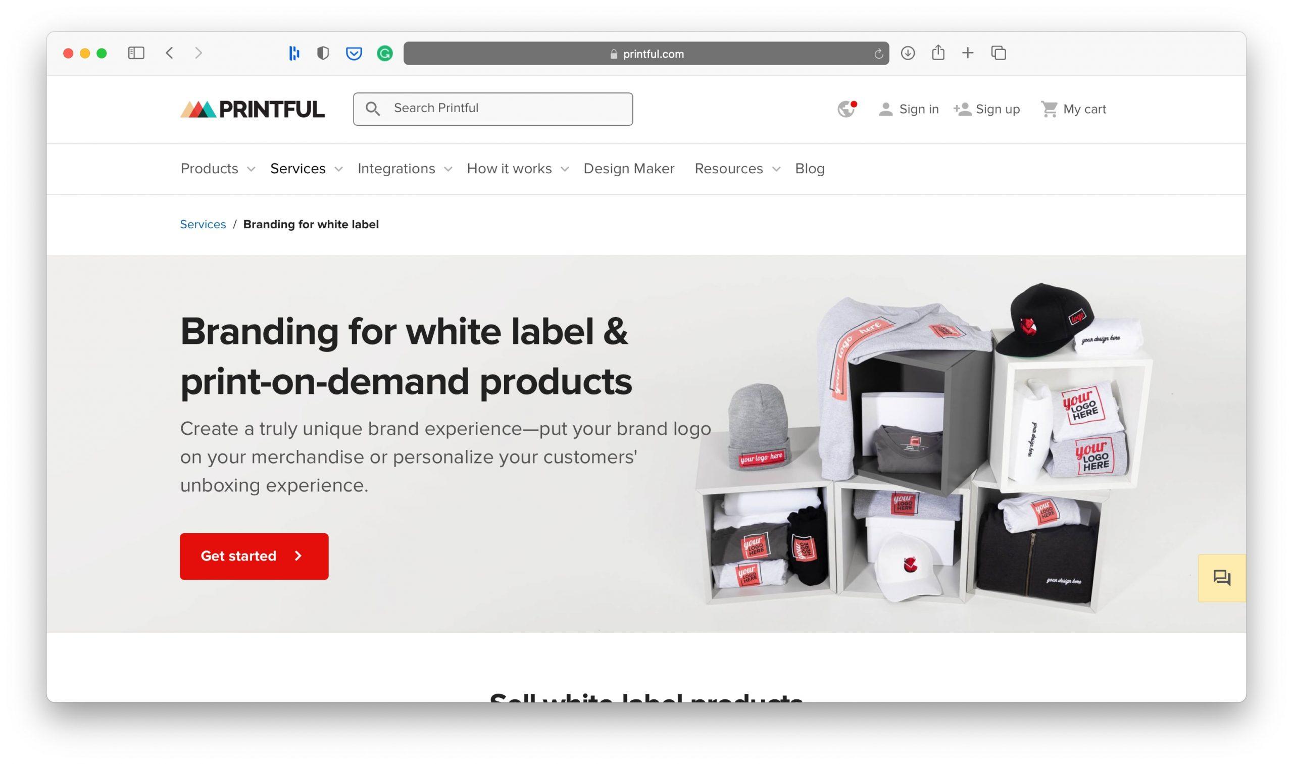 Printful Branding Services