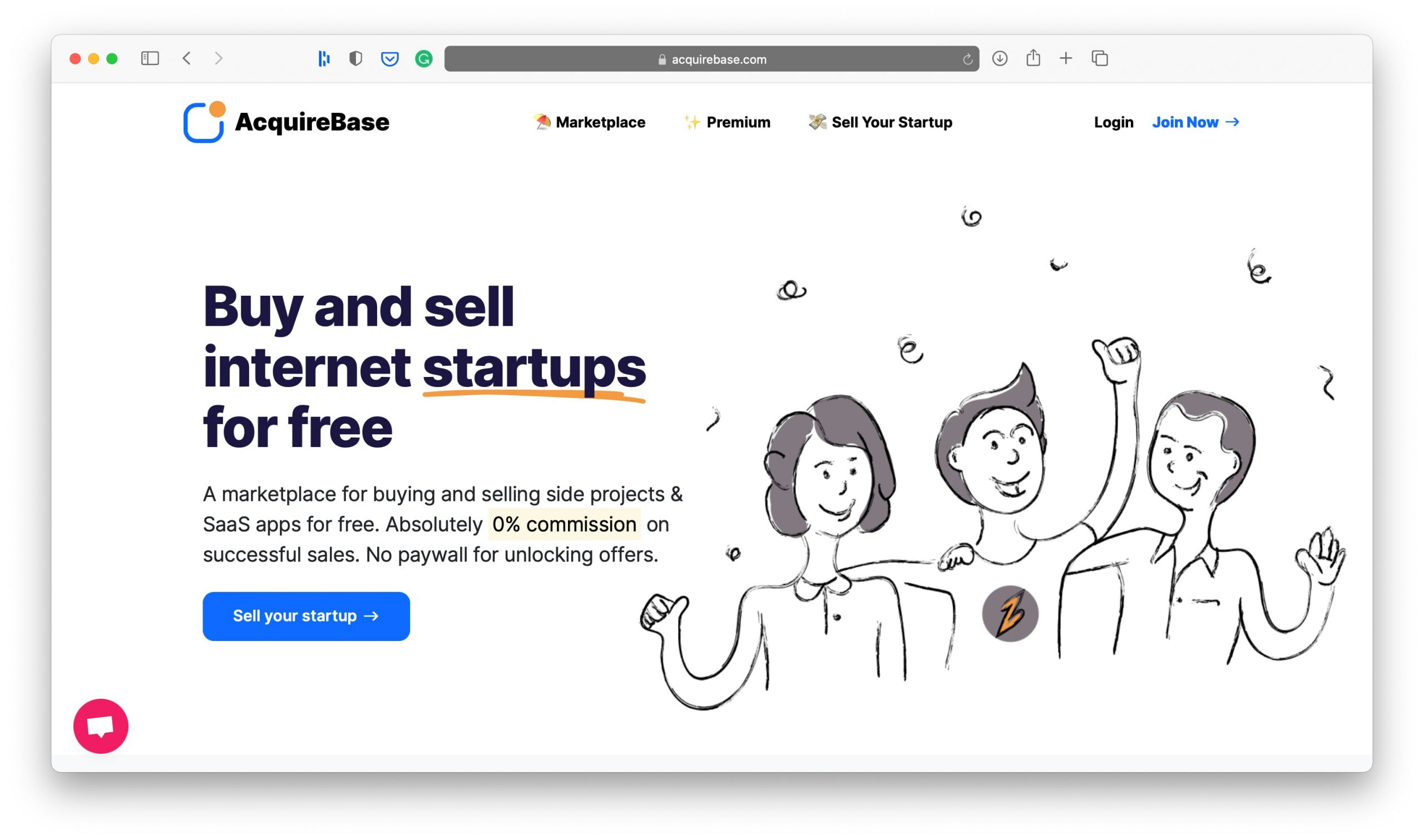 AcquireBase Homepage