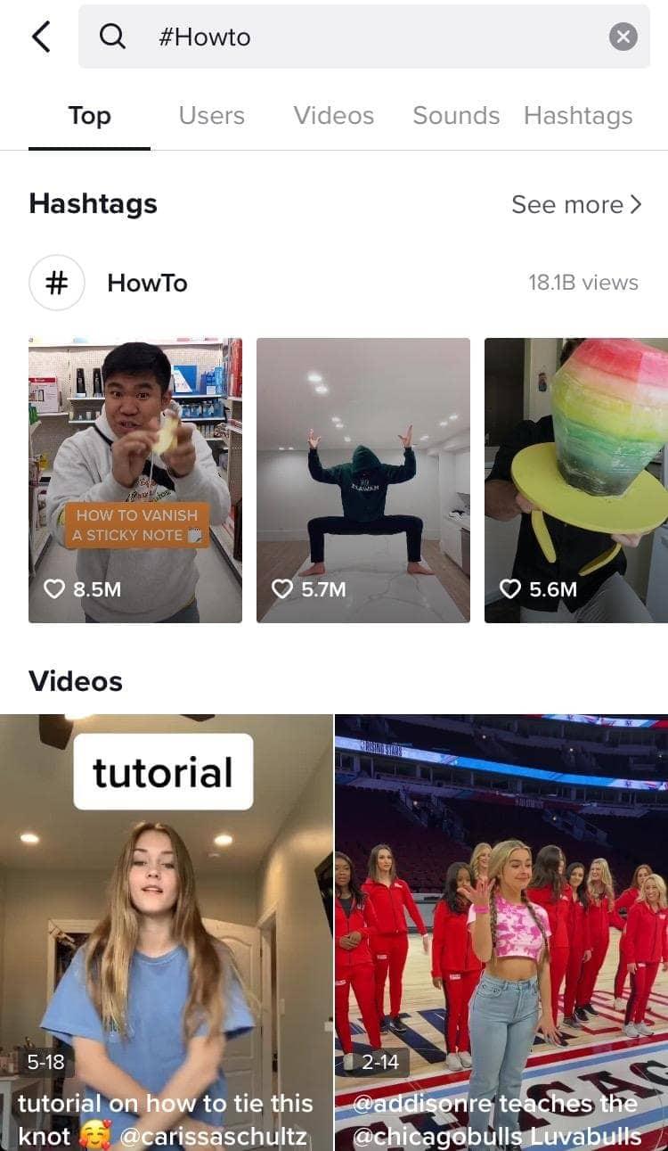 Searching for TikTok Influencers on TikTok