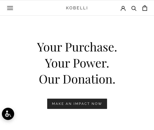 Exemple de marketing de cause Kobelli