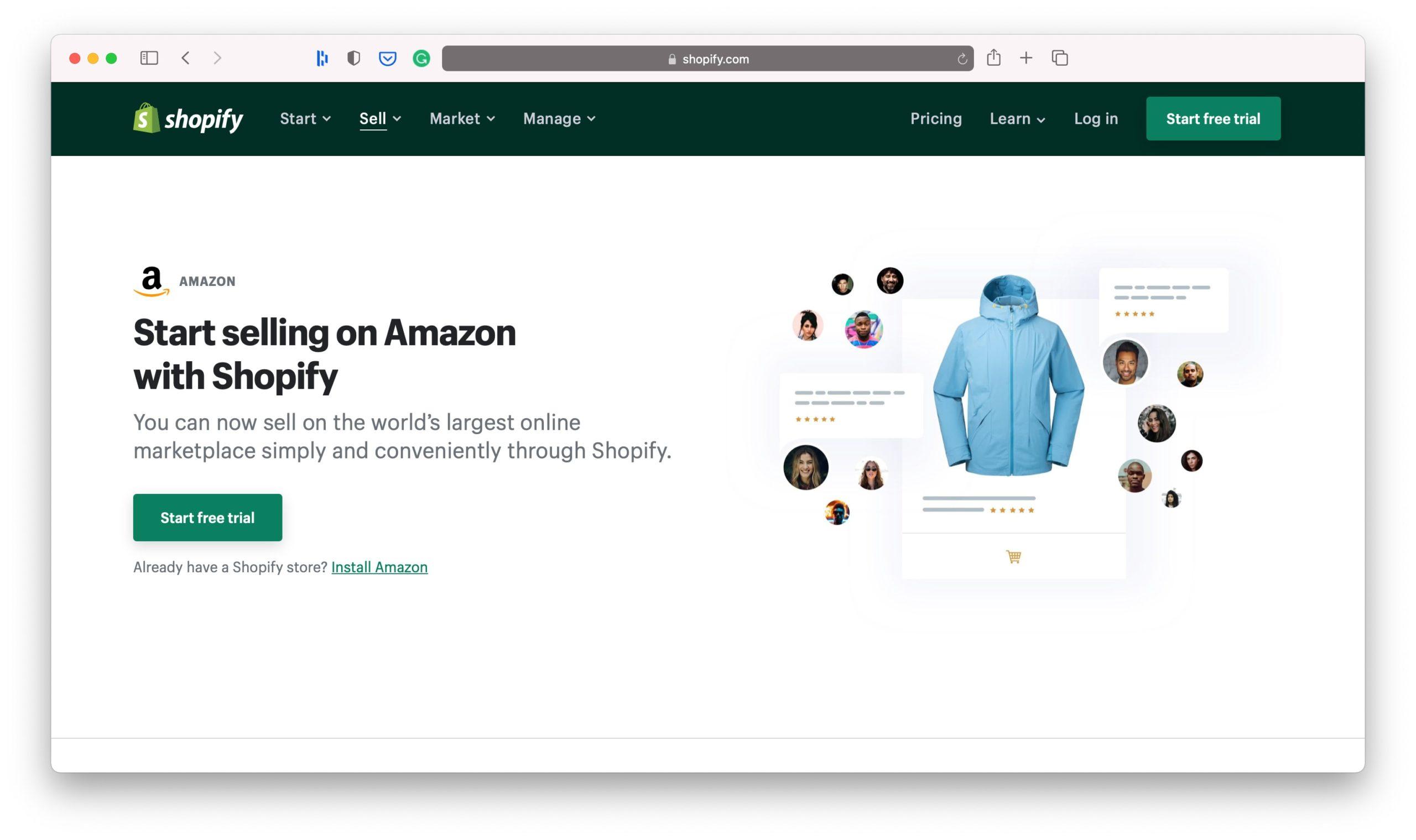 Amazon Shopify Sales Channels
