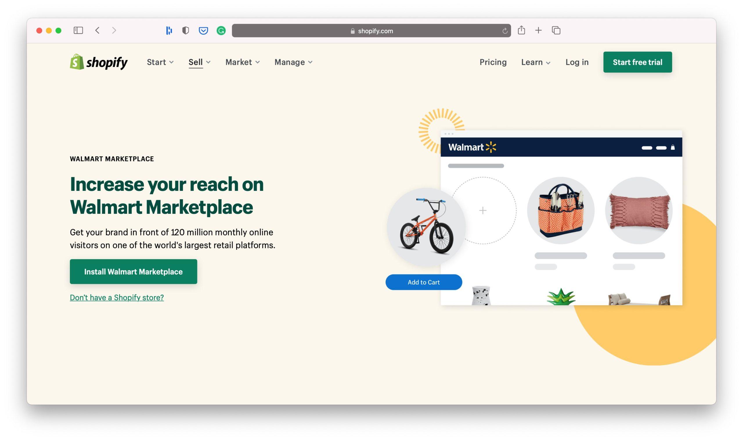 Walmart Shopify Sales Channel