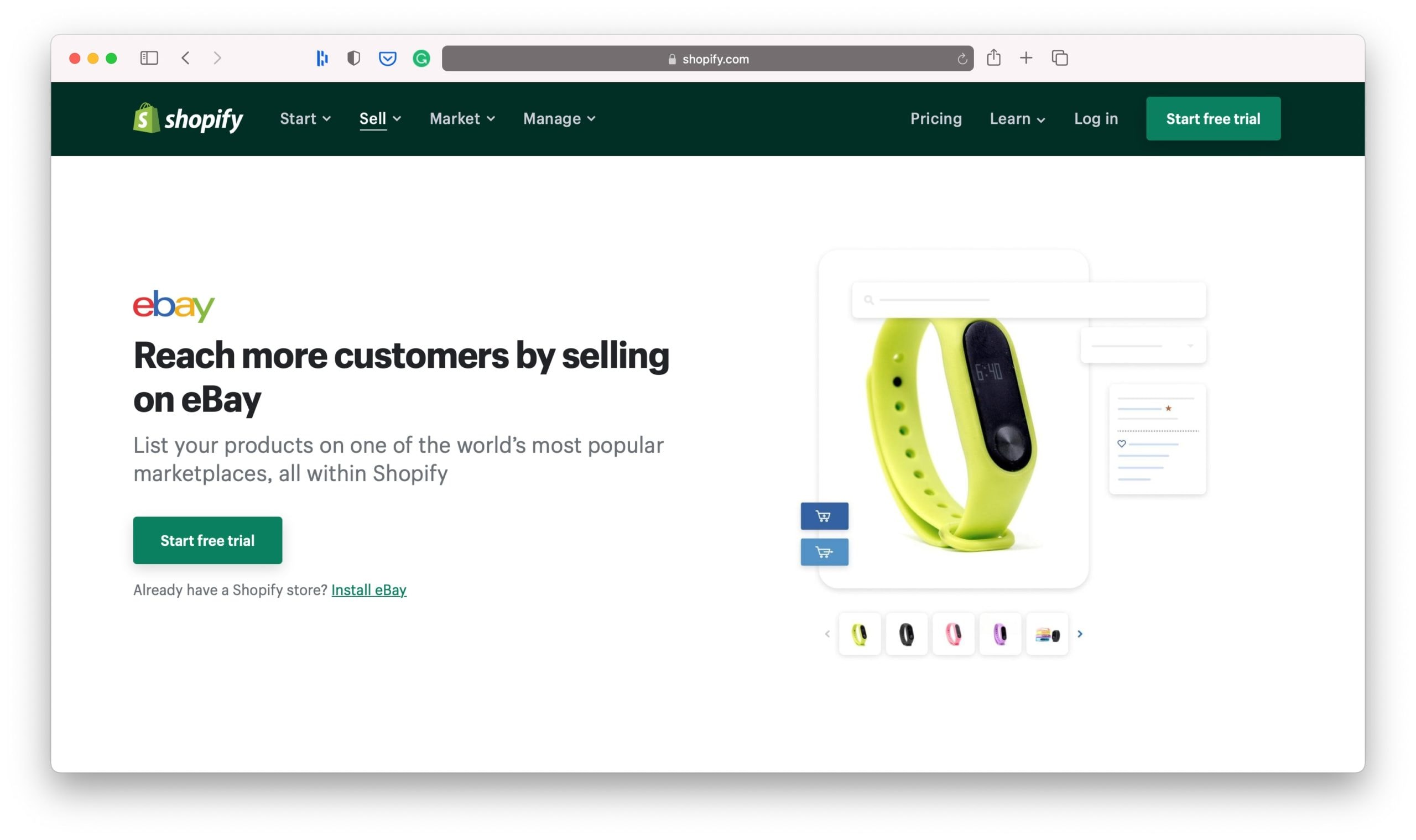 eBay Shopify Sales Channels