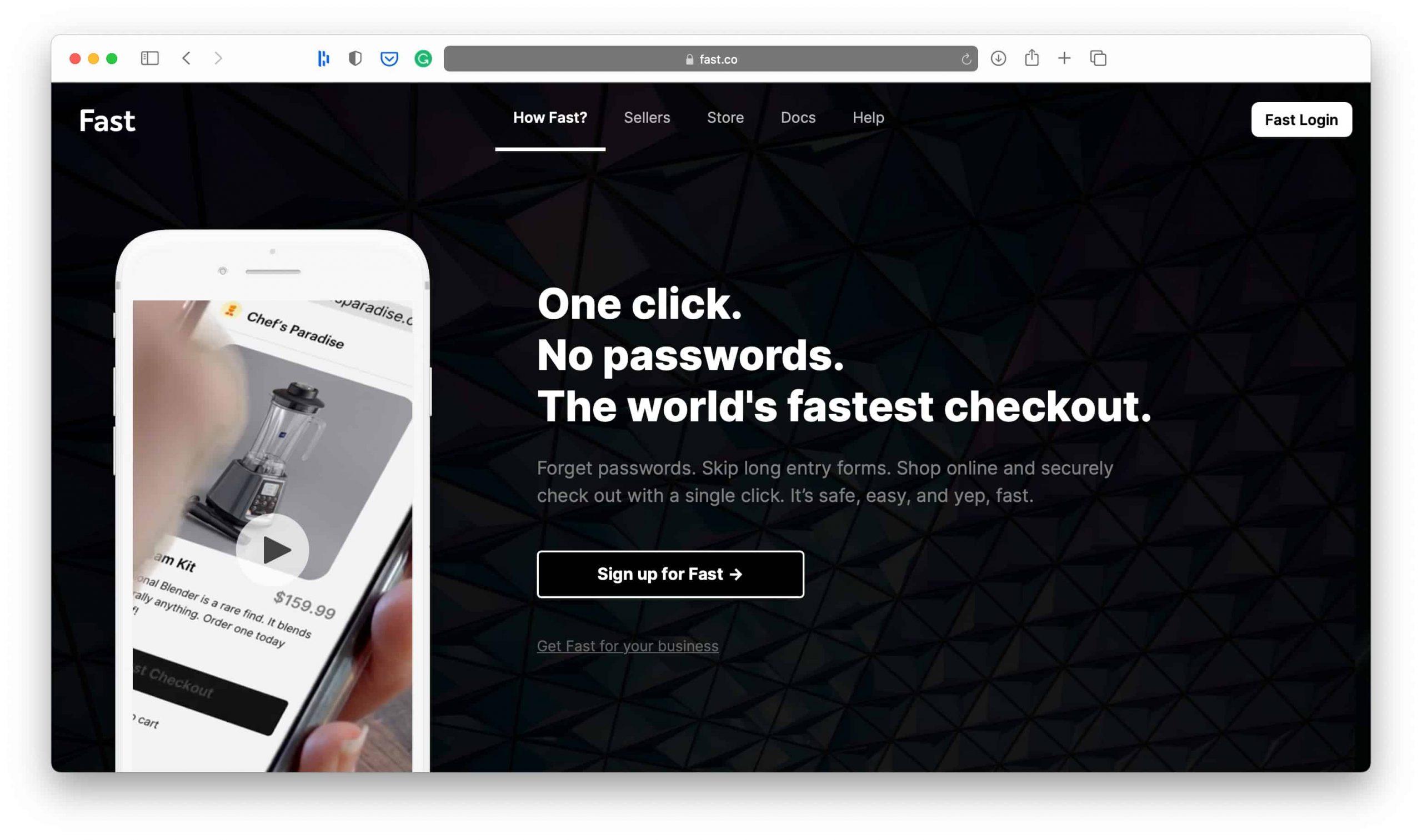 Fast One Click Checkout Platform