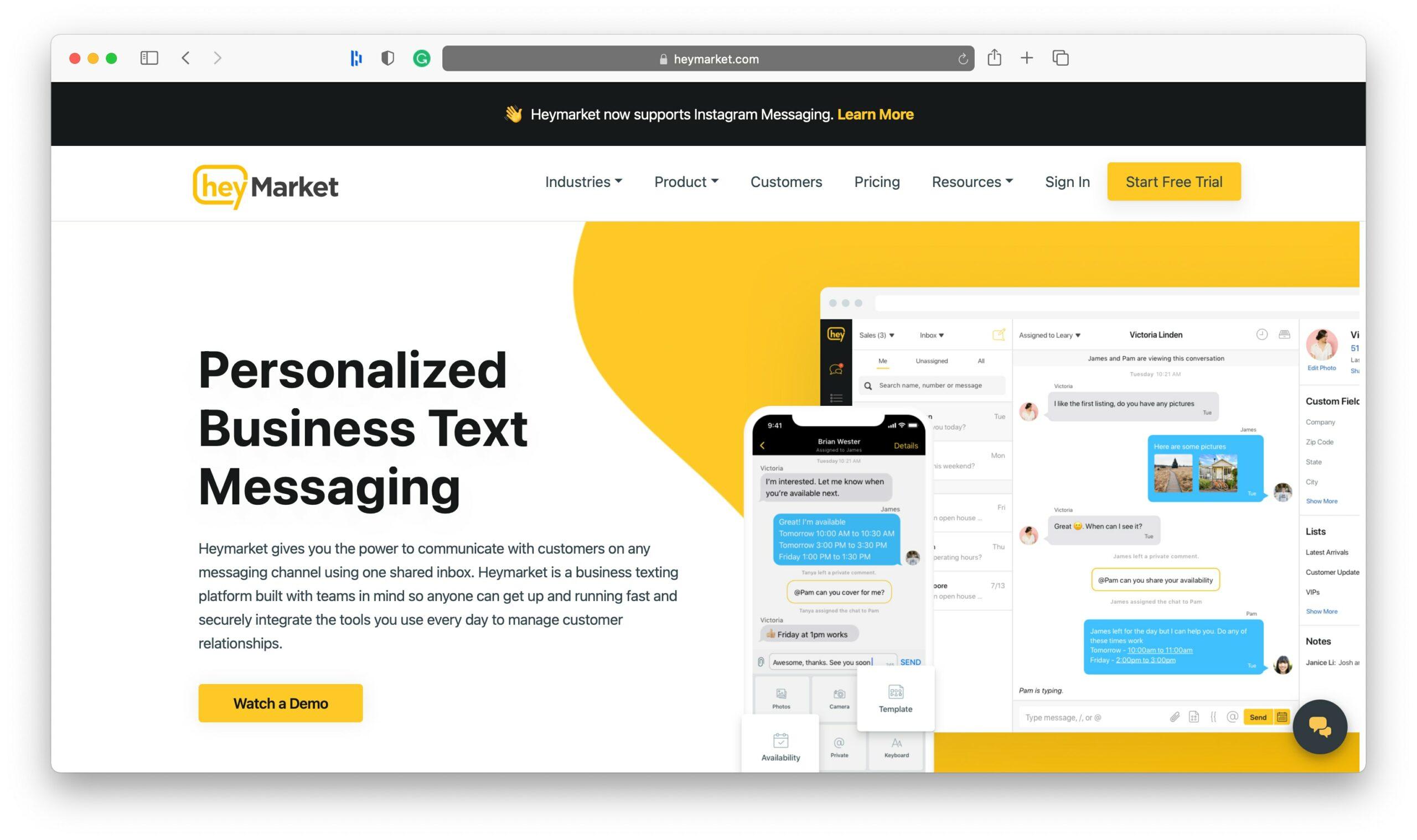 HeyMarket SMS Marketing Tools